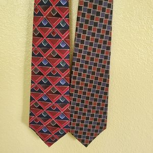 2 Nordstrom Ties, made in Italy